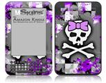 Purple Princess Skull - Decal Style Skin fits Amazon Kindle 3 Keyboard (with 6 inch display)