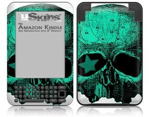 Greenskull - Decal Style Skin fits Amazon Kindle 3 Keyboard (with 6 inch display)