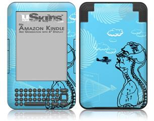 The Beautifully Paranoid - Decal Style Skin fits Amazon Kindle 3 Keyboard (with 6 inch display)