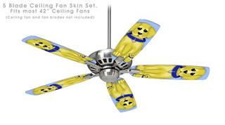 Puppy Dogs on Blue - Ceiling Fan Skin Kit fits most 42 inch fans (FAN and BLADES SOLD SEPARATELY)