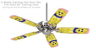Puppy Dogs on Pink - Ceiling Fan Skin Kit fits most 42 inch fans (FAN and BLADES SOLD SEPARATELY)