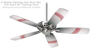 Baseball - Ceiling Fan Skin Kit fits most 42 inch fans (FAN and BLADES SOLD SEPARATELY)