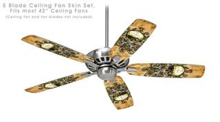 Airship Pirate - Ceiling Fan Skin Kit fits most 42 inch fans (FAN and BLADES SOLD SEPARATELY)