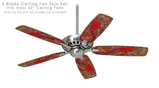 Red Right Hand - Ceiling Fan Skin Kit fits most 42 inch fans (FAN and BLADES SOLD SEPARATELY)