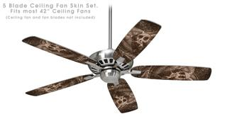 The Temple - Ceiling Fan Skin Kit fits most 42 inch fans (FAN and BLADES SOLD SEPARATELY)