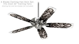 Thulhu - Ceiling Fan Skin Kit fits most 42 inch fans (FAN and BLADES SOLD SEPARATELY)
