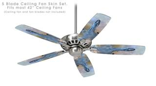 Kathy Gold - Forever More - Ceiling Fan Skin Kit fits most 42 inch fans (FAN and BLADES SOLD SEPARATELY)