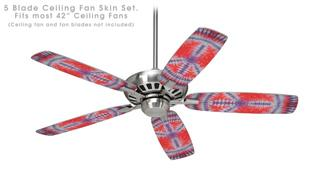 Tie Dye Peace Sign 105 - Ceiling Fan Skin Kit fits most 42 inch fans (FAN and BLADES SOLD SEPARATELY)