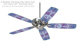 Tie Dye Peace Sign 106 - Ceiling Fan Skin Kit fits most 42 inch fans (FAN and BLADES SOLD SEPARATELY)