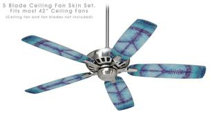 Tie Dye Peace Sign 107 - Ceiling Fan Skin Kit fits most 42 inch fans (FAN and BLADES SOLD SEPARATELY)