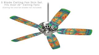 Tie Dye Peace Sign 111 - Ceiling Fan Skin Kit fits most 42 inch fans (FAN and BLADES SOLD SEPARATELY)