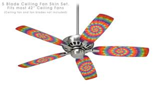 Tie Dye Swirl 107 - Ceiling Fan Skin Kit fits most 42 inch fans (FAN and BLADES SOLD SEPARATELY)