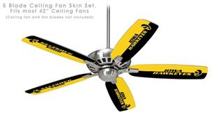 Iowa Hawkeyes Tigerhawk 01 - Ceiling Fan Skin Kit fits most 42 inch fans (FAN and BLADES SOLD SEPARATELY)