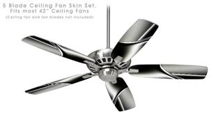 Sinuosity 01 - Ceiling Fan Skin Kit fits most 42 inch fans (FAN and BLADES SOLD SEPARATELY)