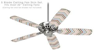 Zig Zag Colors 03 - Ceiling Fan Skin Kit fits most 42 inch fans (FAN and BLADES SOLD SEPARATELY)