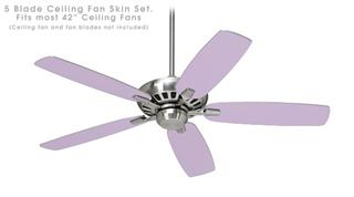 Solids Collection Lavender - Ceiling Fan Skin Kit fits most 42 inch fans (FAN and BLADES SOLD SEPARATELY)