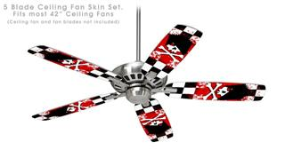 Emo Skull 5 - Ceiling Fan Skin Kit fits most 42 inch fans (FAN and BLADES SOLD SEPARATELY)