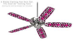 Pink Skulls and Stars - Ceiling Fan Skin Kit fits most 42 inch fans (FAN and BLADES SOLD SEPARATELY)