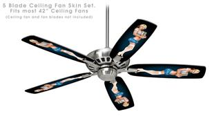 Janelle Pin Up Girl - Ceiling Fan Skin Kit fits most 42 inch fans (FAN and BLADES SOLD SEPARATELY)