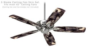 Creation - Ceiling Fan Skin Kit fits most 42 inch fans (FAN and BLADES SOLD SEPARATELY)