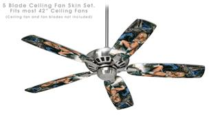 Dragon - Ceiling Fan Skin Kit fits most 42 inch fans (FAN and BLADES SOLD SEPARATELY)