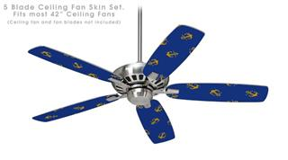Anchors Away - Ceiling Fan Skin Kit fits most 42 inch fans (FAN and BLADES SOLD SEPARATELY)