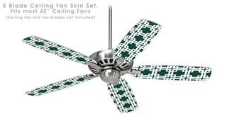 Boxed Hunter Green - Ceiling Fan Skin Kit fits most 42 inch fans (FAN and BLADES SOLD SEPARATELY)