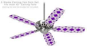 Boxed Purple - Ceiling Fan Skin Kit fits most 42 inch fans (FAN and BLADES SOLD SEPARATELY)