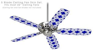 Boxed Royal Blue - Ceiling Fan Skin Kit fits most 42 inch fans (FAN and BLADES SOLD SEPARATELY)