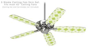 Boxed Sage Green - Ceiling Fan Skin Kit fits most 42 inch fans (FAN and BLADES SOLD SEPARATELY)