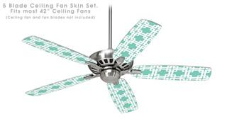 Boxed Seafoam Green - Ceiling Fan Skin Kit fits most 42 inch fans (FAN and BLADES SOLD SEPARATELY)