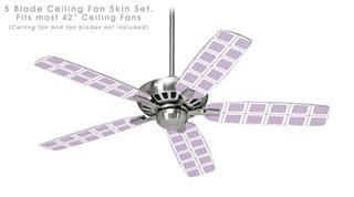 Squared Lavender - Ceiling Fan Skin Kit fits most 42 inch fans (FAN and BLADES SOLD SEPARATELY)