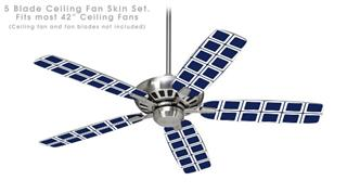 Squared Navy Blue - Ceiling Fan Skin Kit fits most 42 inch fans (FAN and BLADES SOLD SEPARATELY)