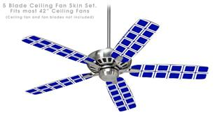 Squared Royal Blue - Ceiling Fan Skin Kit fits most 42 inch fans (FAN and BLADES SOLD SEPARATELY)