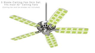 Squared Sage Green - Ceiling Fan Skin Kit fits most 42 inch fans (FAN and BLADES SOLD SEPARATELY)