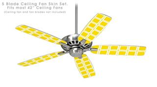 Squared Yellow - Ceiling Fan Skin Kit fits most 42 inch fans (FAN and BLADES SOLD SEPARATELY)