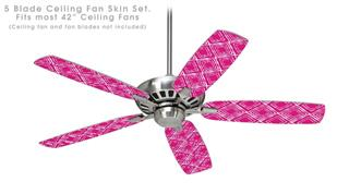 Wavey Fuchsia (Hot Pink) - Ceiling Fan Skin Kit fits most 42 inch fans (FAN and BLADES SOLD SEPARATELY)