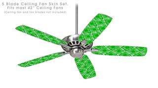 Wavey Green - Ceiling Fan Skin Kit fits most 42 inch fans (FAN and BLADES SOLD SEPARATELY)