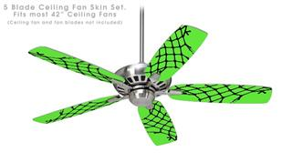 Ripped Fishnets Green - Ceiling Fan Skin Kit fits most 42 inch fans (FAN and BLADES SOLD SEPARATELY)