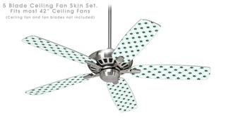 Kearas Daisies Diffuse Glow - Ceiling Fan Skin Kit fits most 42 inch fans (FAN and BLADES SOLD SEPARATELY)