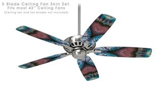 Phat Dyes - Heart - 102 - Ceiling Fan Skin Kit fits most 42 inch fans (FAN and BLADES SOLD SEPARATELY)
