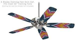 Phat Dyes - Heart - 104 - Ceiling Fan Skin Kit fits most 42 inch fans (FAN and BLADES SOLD SEPARATELY)