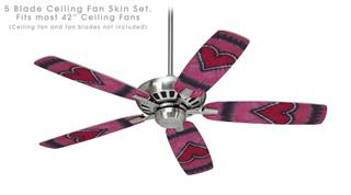 Phat Dyes - Heart - 105 - Ceiling Fan Skin Kit fits most 42 inch fans (FAN and BLADES SOLD SEPARATELY)