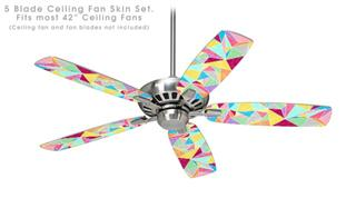 Brushed Geometric - Ceiling Fan Skin Kit fits most 42 inch fans (FAN and BLADES SOLD SEPARATELY)