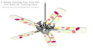 Plain Leaves - Ceiling Fan Skin Kit fits most 42 inch fans (FAN and BLADES SOLD SEPARATELY)
