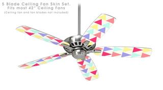 Triangles Light - Ceiling Fan Skin Kit fits most 42 inch fans (FAN and BLADES SOLD SEPARATELY)