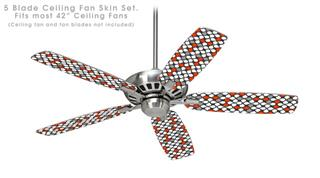 Locknodes 05 Red - Ceiling Fan Skin Kit fits most 42 inch fans (FAN and BLADES SOLD SEPARATELY)
