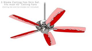 Ripped Colors Pink Red - Ceiling Fan Skin Kit fits most 42 inch fans (FAN and BLADES SOLD SEPARATELY)