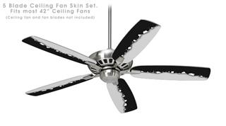 Ripped Colors Black Gray - Ceiling Fan Skin Kit fits most 42 inch fans (FAN and BLADES SOLD SEPARATELY)