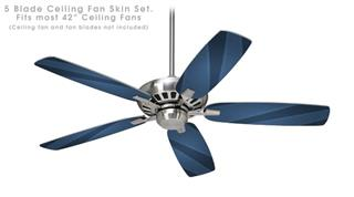 VintageID 25 Blue - Ceiling Fan Skin Kit fits most 42 inch fans (FAN and BLADES SOLD SEPARATELY)